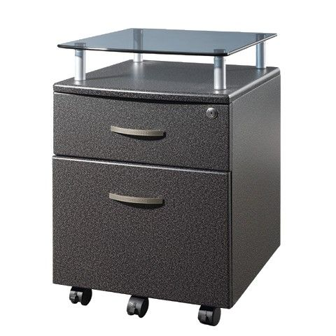 Techni Mobili Rolling and Locking File Cabinet - Gray