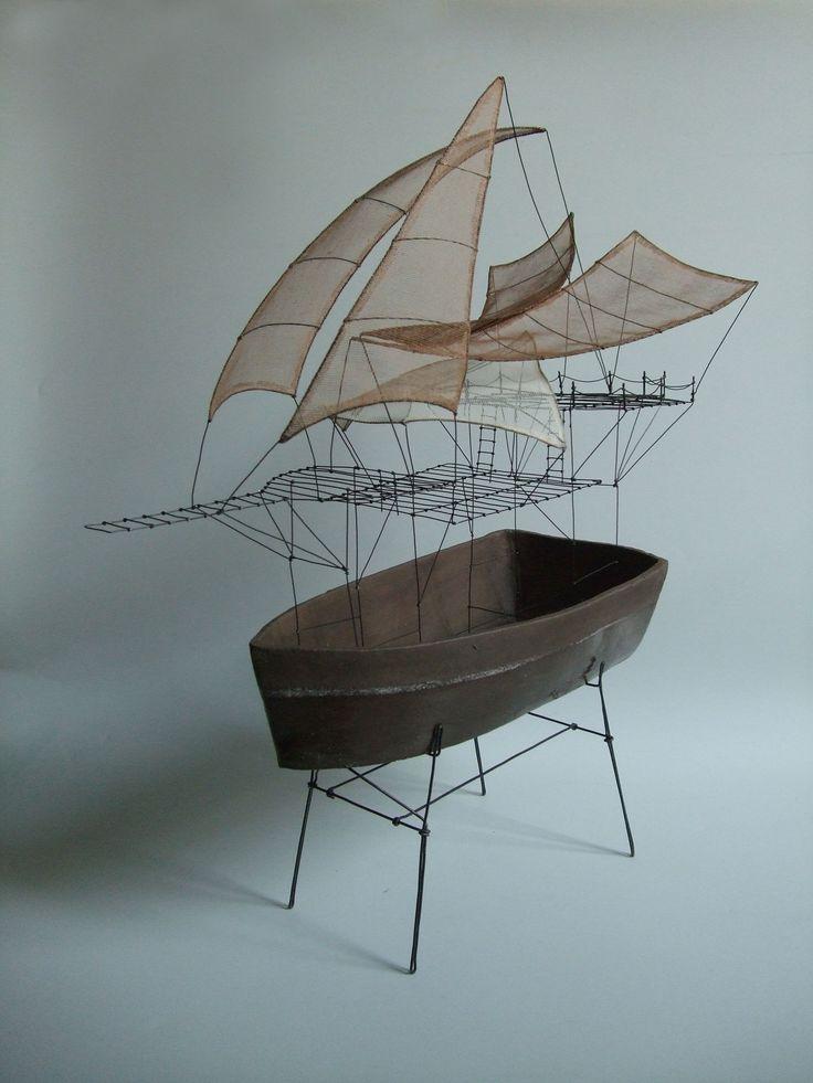 """de Fer est mon Fil - sculpture à poser """"Et si nous partions en voyage"""" - Isabelle Bonte"""