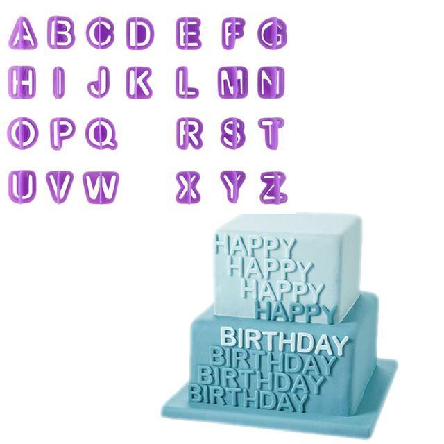 40 pz Alfabeto Lettera Numero Torta Del Fondente Che Decora Set Glassa Cutter Stampi Stampo Attrezzi Della Torta