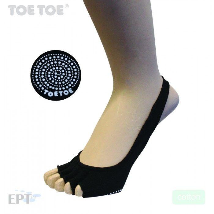 Anti-Slip Sole - Open Toe - Half - Black - UK4-11 -