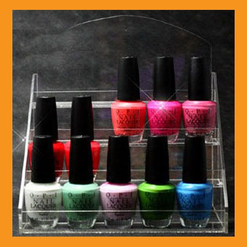 Makeup Organizer Nail Polish Rack Stand Display Acrylic Storage Holder  Clear $26.50