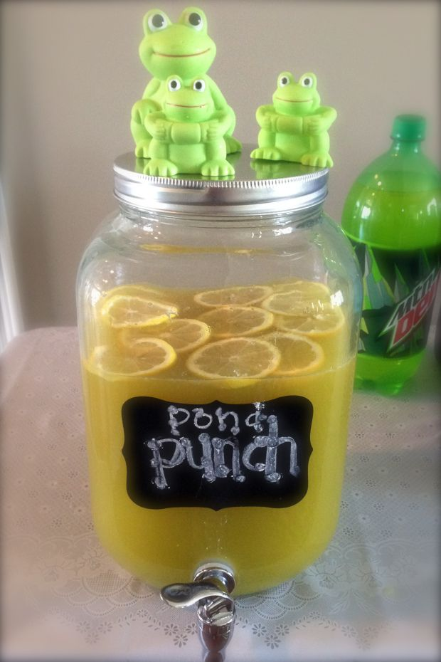 Glamourita Pond Punch- frog, snails and puppy dog tails baby boy shower