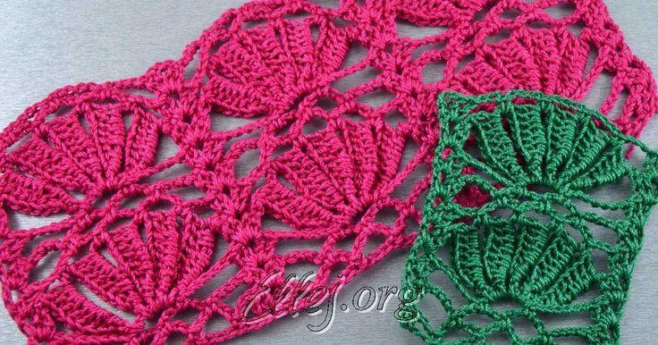 Особенностью техники выполнения такого узора есть, что на каждом лепестке нам нужно переворачивать вязание на другую сторону и вязать лепесточки поперек полотна. Crochet by Ellej - фото-, видео- мастер-классы по вязанию крючком, схемы и описания.