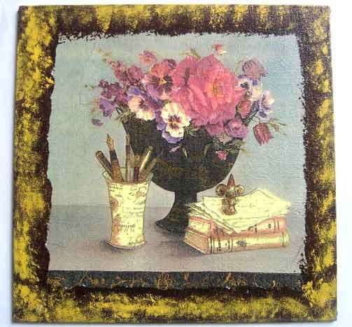 #Tablou #design #vaza #flori, #suport #stilouri si #pixuri, #carti, tablou #handmade pe #panza  http://handmade.luxdesign28.ro/produs/tablou-design-vaza-flori-suport-stilouri-si-pixuri-carti-tablou-handmade-pe-panza-26047/
