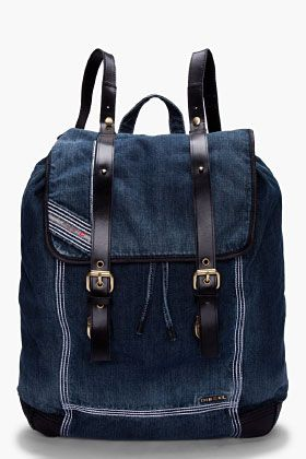 DIESEL Denim Backy-HOB Backpack. What. Replacement for JanSport?..