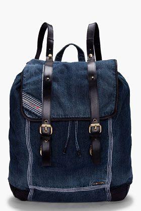 DIESEL Denim Backy-HOB Backpack
