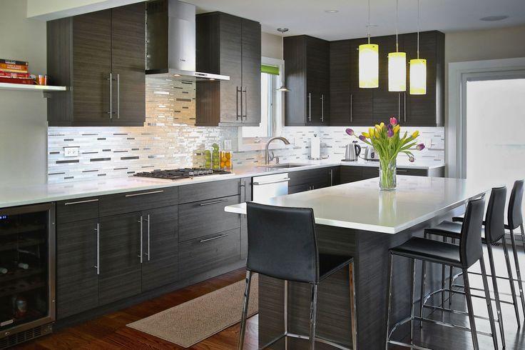 Melamine Decor Lava Kitchen Cabinets -