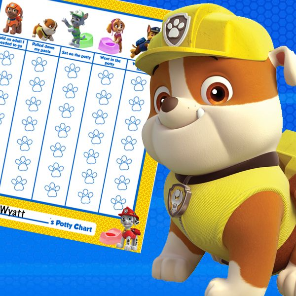 The PAW Patrol is ready to help with potty training!