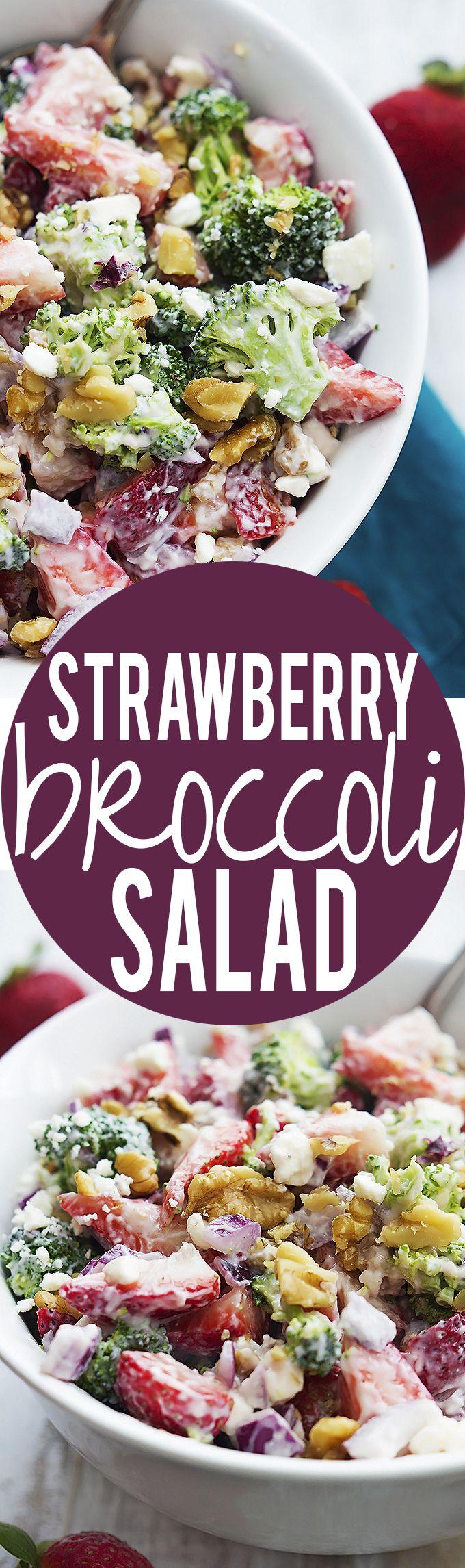 Strawberry Broccoli Salad   Creme de la Crumb