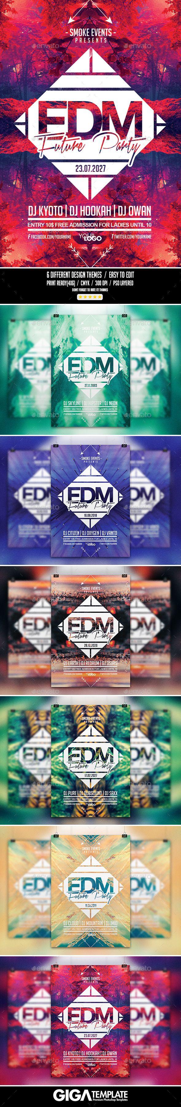 EDM Futuristic Music | Night Flyer PSD Template (CS, 4x6, abstract, alternative, bundle, colorful, deejay, drum n bass, drumnbass, dubstep, edm, electro, electronic, elemental, event, festival, future, futuristic, geometric, minimal, minimalist, modern flyer, music, nature, night, party, print template, progressive house, summer, techno poster, trance, urban)