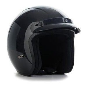 DUCHINNI D506 OPEN FACE HELMET SCOOTER MOTORCYCLE MOTORBIKE BLACK GLOSS LARGE   eBay