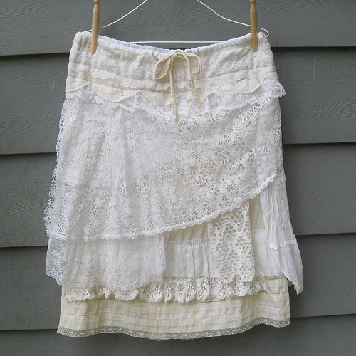 Tattered Lace Layered Skirt | vintage laces over a vintage c… | Flickr