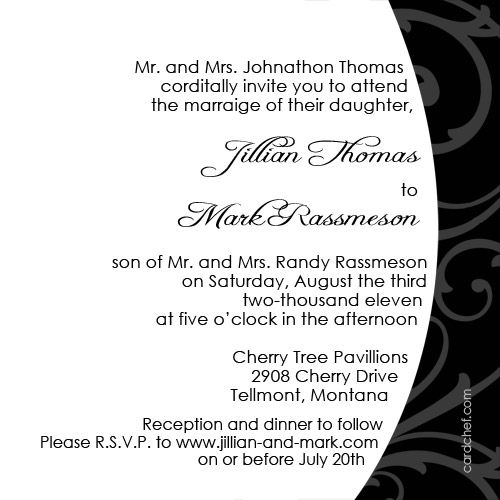 Top 25 ideas about Wedding Card Invitation – Example of Wedding Invitation Cards