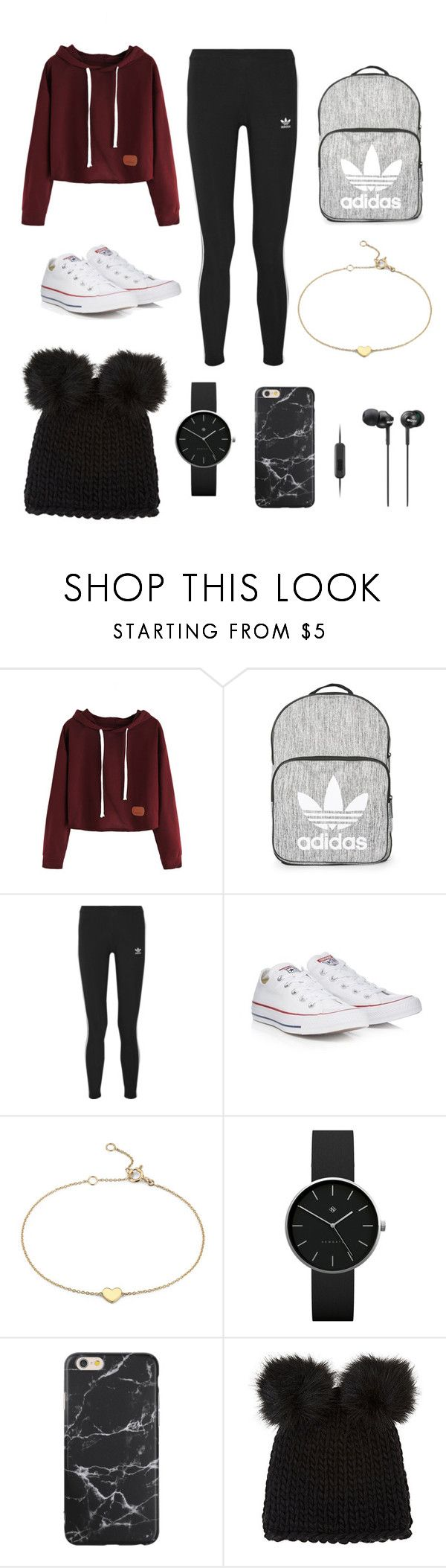 """""""Road trip with Shyla Oliver"""" by wdwhadmeshook ❤ liked on Polyvore featuring Topshop, adidas Originals, Converse, Blue Nile, Newgate, Barneys New York and Sony"""
