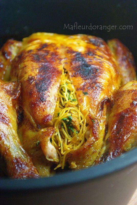 """<a href=""""http://mafleurdoranger.com/article-poulet-121949252"""">Poulet farci et cuit au four</a>"""