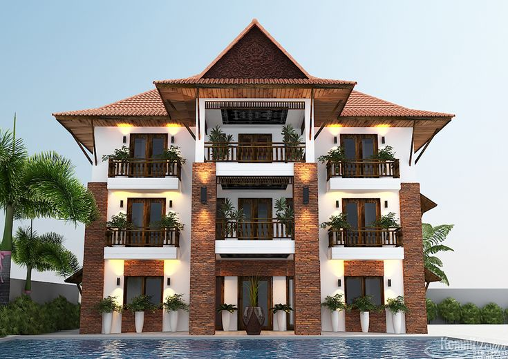 Exterior hotel projects of komnit rachna is a khmer company in phnom penh cambodia