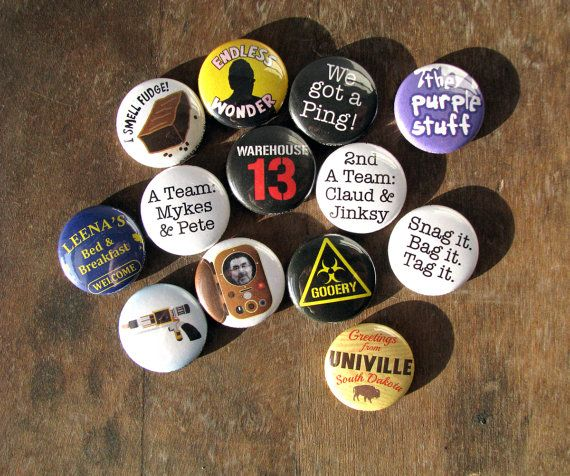 Warehouse 13 - SyFy TV Series - Magnets or Buttons (set of 13) on Etsy, $11.00