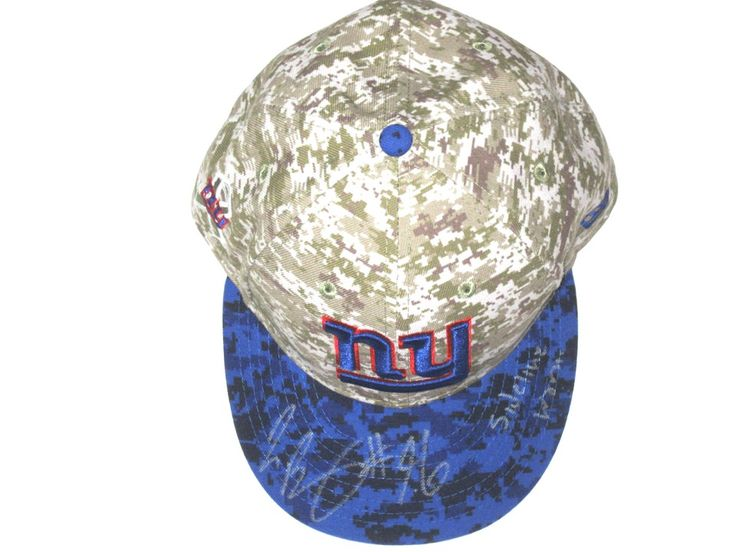 Jay Bromley Sideline Worn & Signed New York Giants Salute to Service New Era Hat