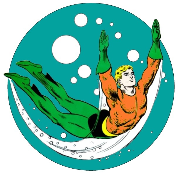 The upper left hand corner icon used for Aquaman Comics, circa 1971, replacing the DC Bullet. From MetropolisPlus.com