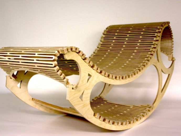 R-chair by OmlOml - Thingiverse | cnc furniture | Pinterest