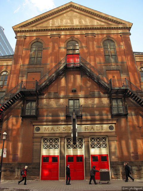 Massey Hall, Toronto, Canada...for some great music and I like the red doors!