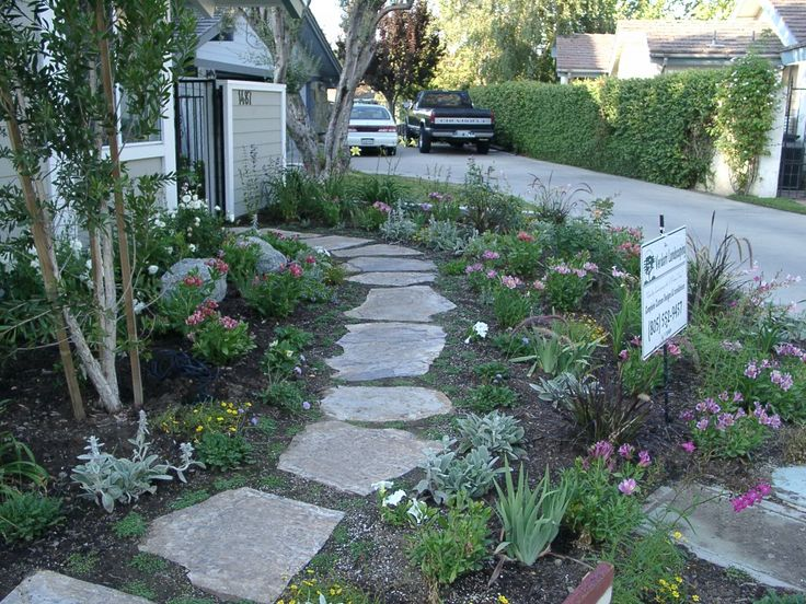 21 best images about flagstone paths walkways on for Walkway garden designs