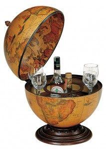 Настольный бар для напитков с глобусом