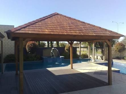 permanent gazebo with roof - Google Search