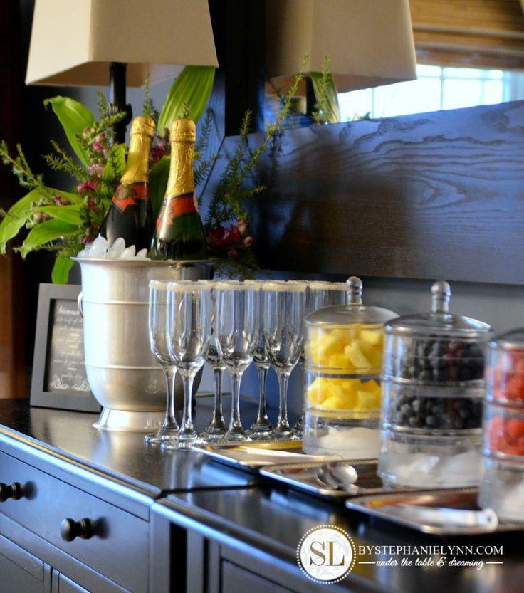 Lovely Bar Setup for Cocktail Party
