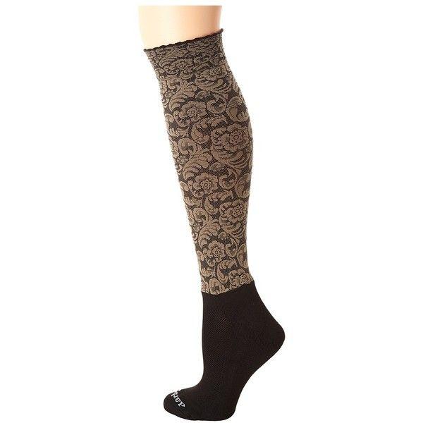BOOTIGHTS Dakota Vintage Floral Knee High/Ankle Sock (Sand) Knee high... ($20) ❤ liked on Polyvore featuring intimates, hosiery, socks, vintage hosiery, ankle socks, short socks, low ankle socks and floral socks