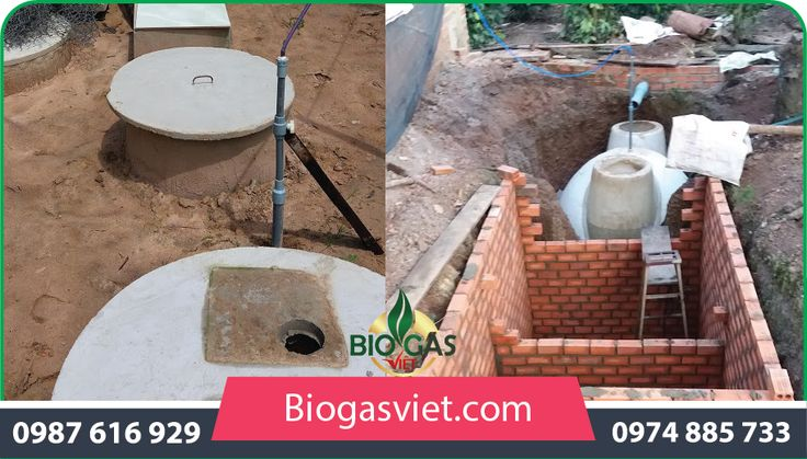cấu tạo hầm biogas composite