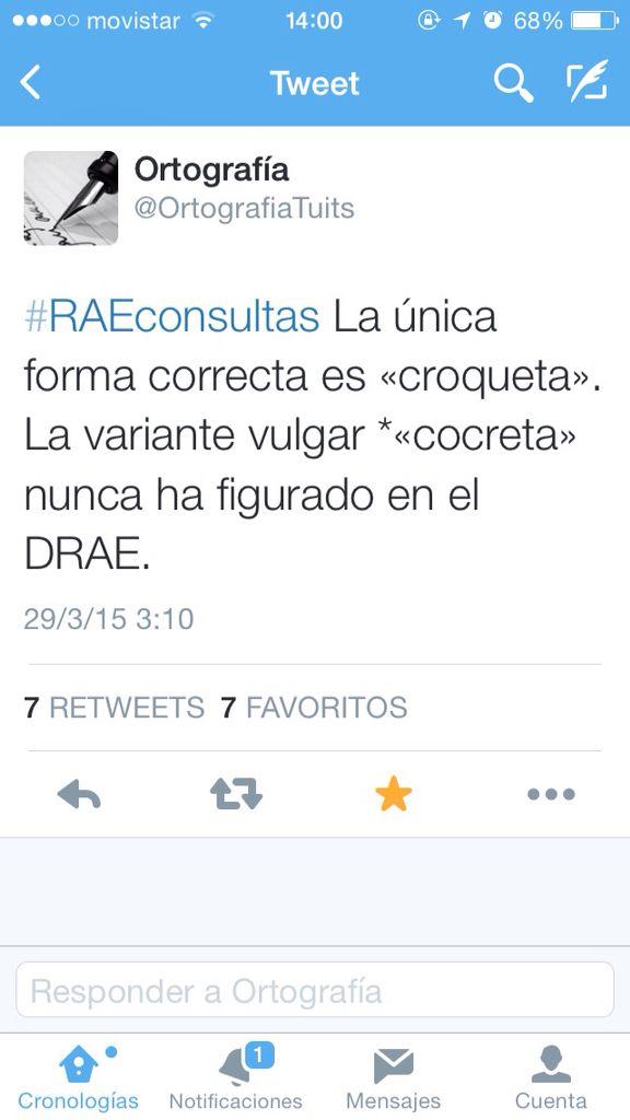 #CROQUETA. El uso correcto del popular producto gastronómico. No digamos #cocreta sino CROQUETAS.