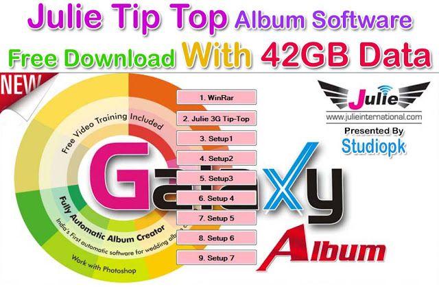 Julie Tip Top Album Software Free Download With 25gb Data Top Albums Album Design Album