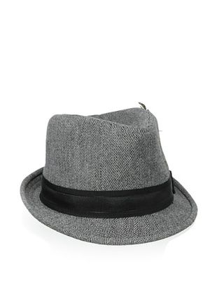 61% OFF Ben Sherman Men's Herringbone Trilby (Charcoal)