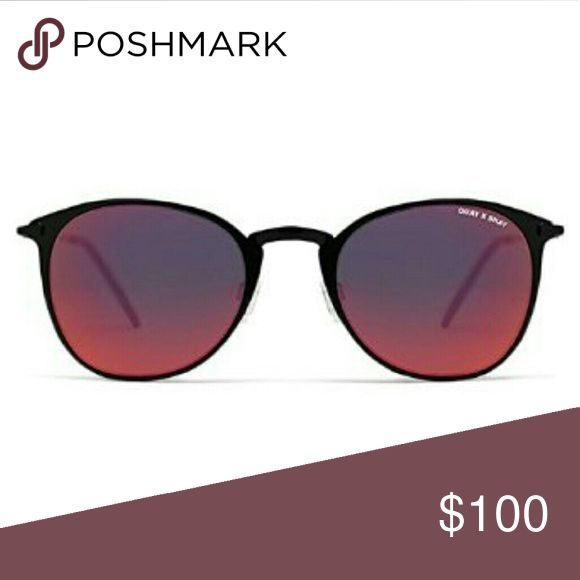NWT Red lense QUAY x SHAY  SUNGLASSES Sold out item still has tags and in packaging never worn  Looks like bailey but they are domino style  Thanks be sure to check out the rest of my closet Quay Australia Accessories Sunglasses