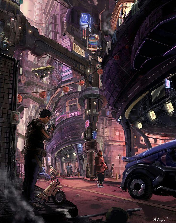sci fi city / cyberpunk / futuristic