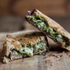 Pistachio-Parsley Pesto and Grilled Taleggio Cheese Sandwich Recipe
