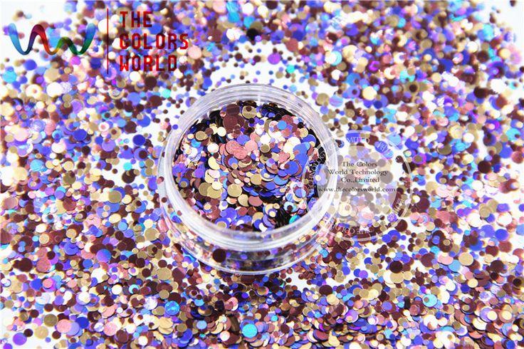 RAM321 249 Смешивать Цвета Смешивать Цвета Точка круглой формы Блеск для искусства ногтя, ногтей гелем, лак для ногтей макияж и DIY украшения купить на AliExpress