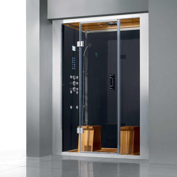 59 x 33 davenham built in steam shower enclosure