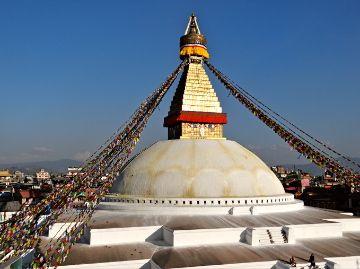 Boudhanath- biggest stupa in the world.