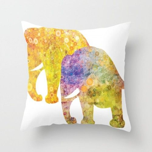 Throw Pillow With the Elephants