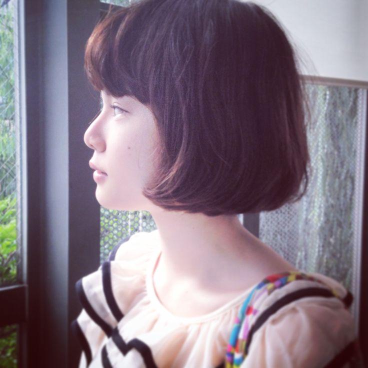 French bob Hair cut by Harukazu Ishihara @i-Barber'S #beauty #hair #bob #tokyo #harajyuku