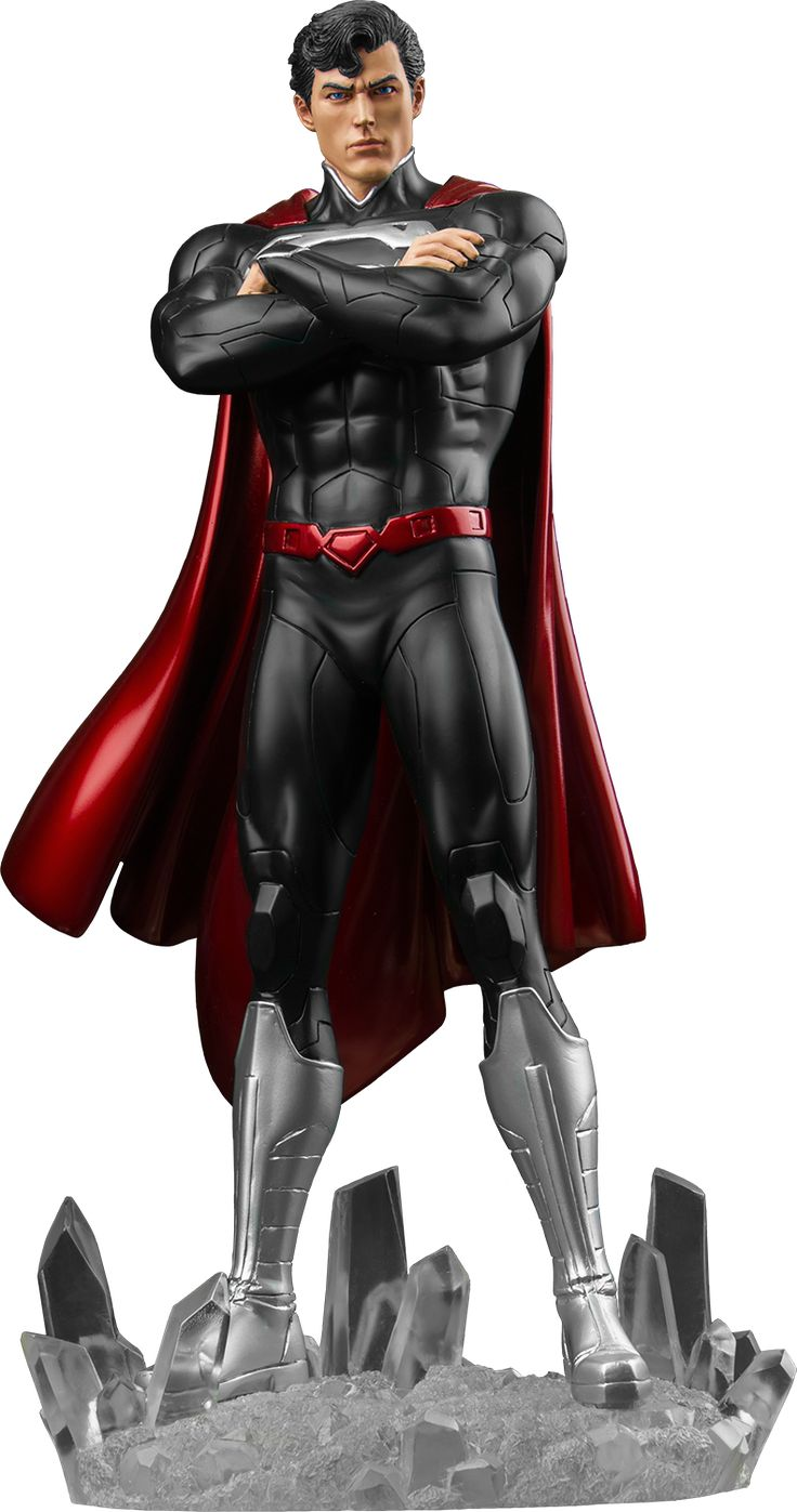 The New 52 Superman Statue | Popcultcha Convention Exclusive Black Suit Superman | Popcultcha