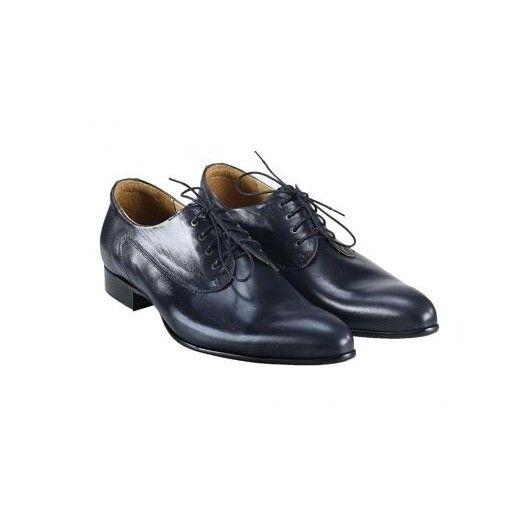 Pánske kožené spoločenské topánky modré PT156 - manozo.hu
