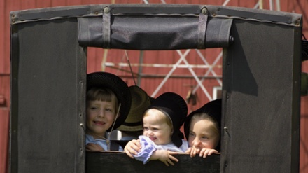 There's nothing like the smiling faces in Ohio's Amish Country! CLICK HERE for info on Yoder's Amish Farm in Millersburg at www.OACountry.com #Amish #Farm #Ohio #Tourism
