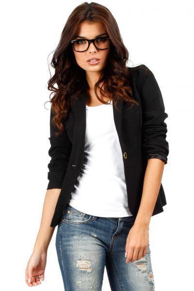 Classic black blazer for women