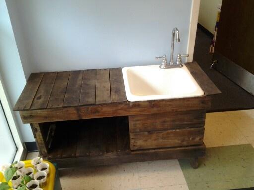 Hose hookup for kitchen sink