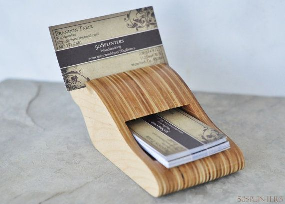 Best 25 business card holders ideas on pinterest diy for Wood business card holder plans