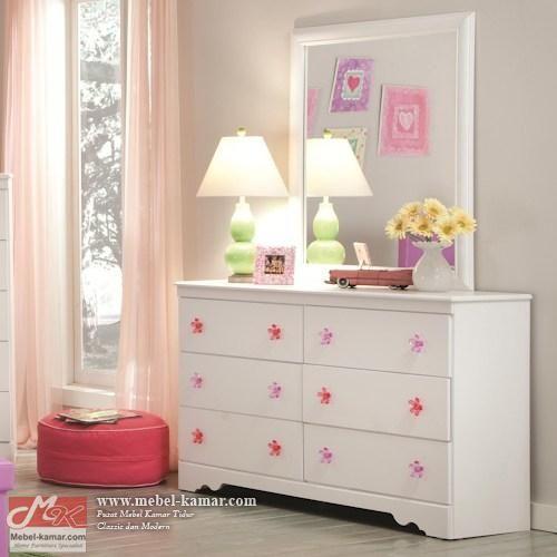 Meja Rias Putih Minimalis - Meja Rias Putih Untuk ANak Perempuan , Pusat produksi mebel anak desain modern dan minimalis harga terjangkau