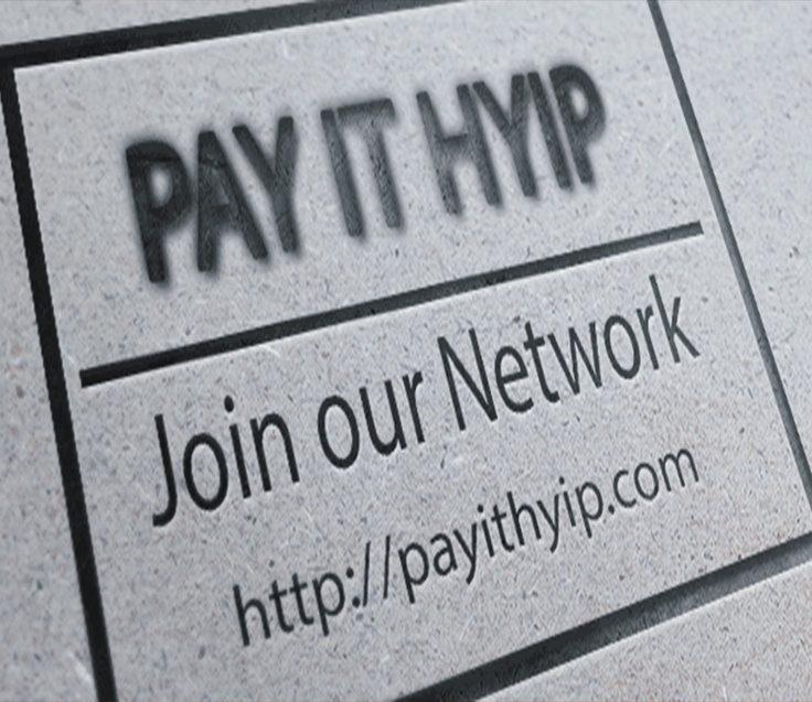 In Beton Branded Logo on the Wall - Join our Network ! - http://payithyip.com/  Pay IT Hyip - The next generation of Money Making Hyip Monitor Networks - Dont Trust the others !